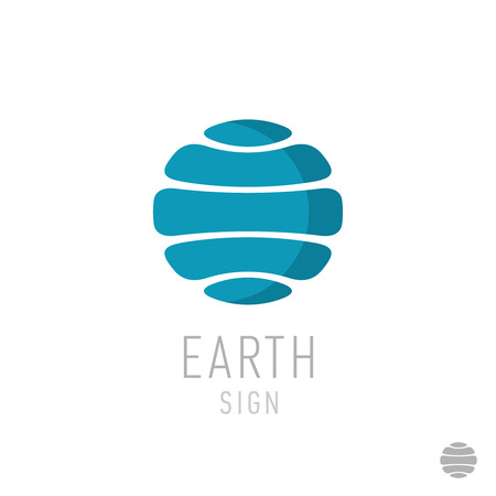 earth from space: Earth logo template. Globe sign. Illustration