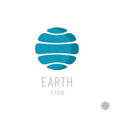 planeten: Erde-Logo-Vorlage. Globe sign. Illustration