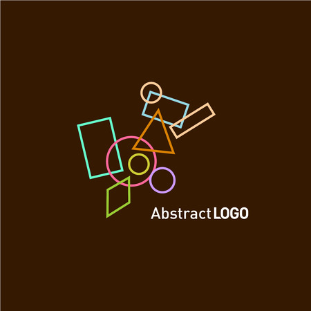 modern design: Abstract shapes set logo template