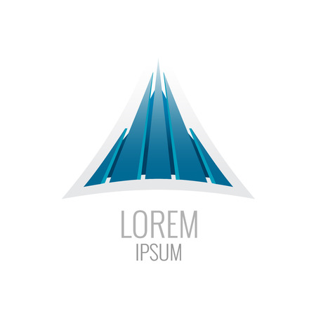 Construction logo template. Abstract triangle buiding sign. Illustration