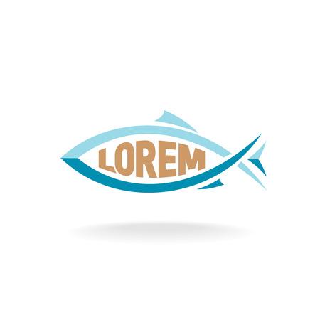 logo poisson: logo de poisson avec place pour le texte � l'int�rieur de la silhouette
