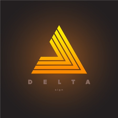 creative force: Abstract triangle logo template. Delta sign.