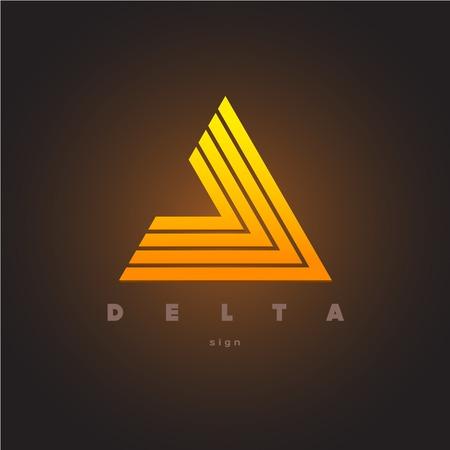 triangulo: Modelo abstracto del logotipo de triángulo. Signo Delta. Vectores