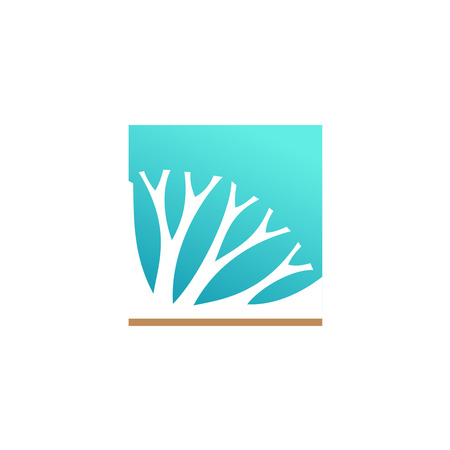 herbal medicine: Herbal medicine or cosmetic components logo Illustration