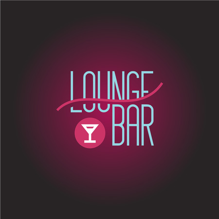 Lounge bar logo template Stock Illustratie