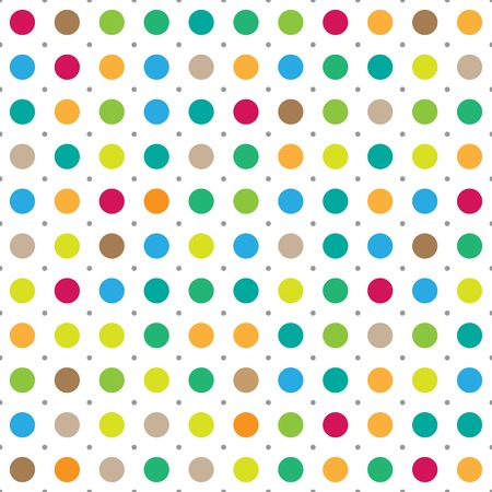 Colorful seamless polka dots vector background 版權商用圖片 - 42125476