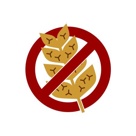 celiac disease: Gluten free vector label sign