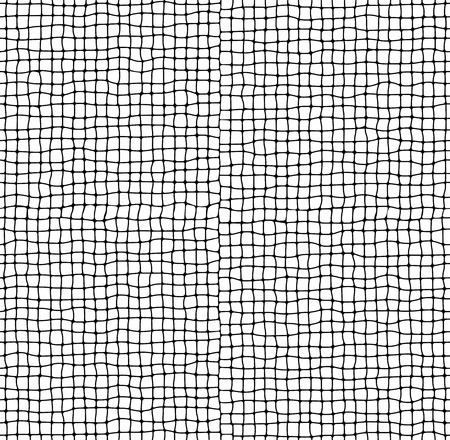 crooked: Crooked rough vector net seamless pattern background Illustration