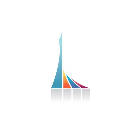 Letter L logo. Architecture monumental symbol.
