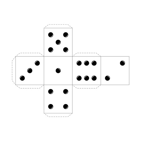 Casino table board game cube vector scheme template
