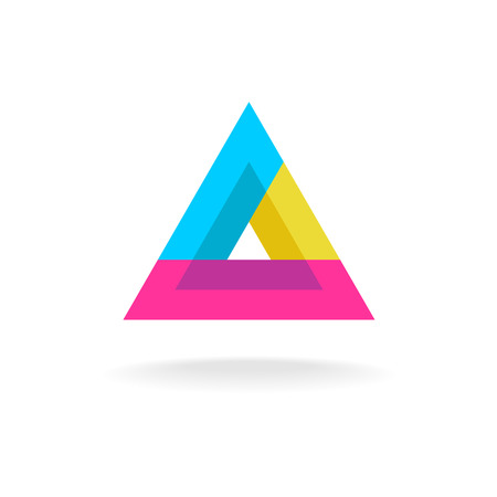 delta: Colorful triangle abstract delta symbol logo Illustration