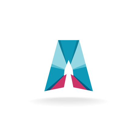 Letter A logo with arrow up