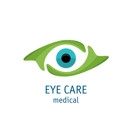 to care: Eye with care hands logo template