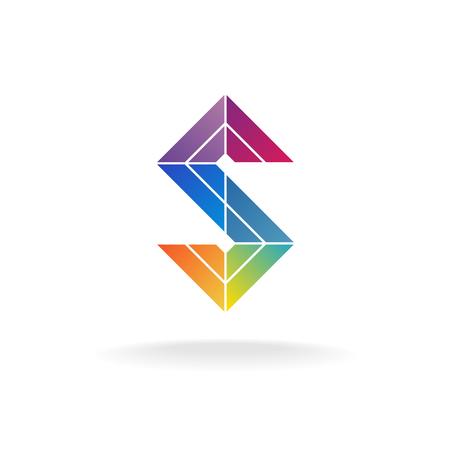arc en ciel: Coloré ruban arc-en-logo de lettre. Thème de la construction.