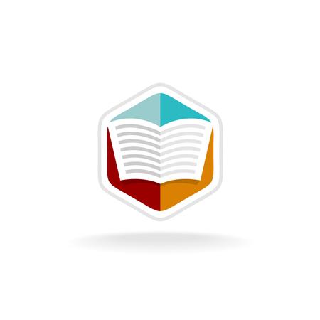 Top Feuilles De Couleur Transparente Ouverte Logo Du Livre Clip Art  XG67