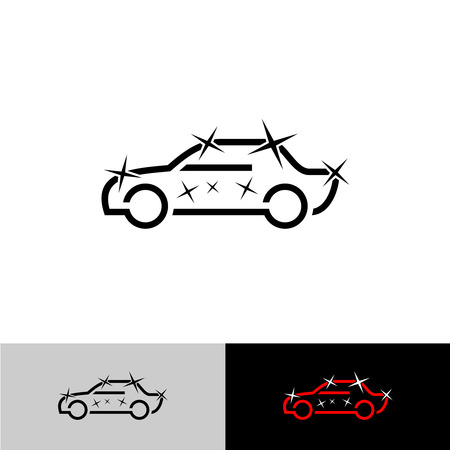 Car polish simple outline symbol. Auto cosmetics icon.