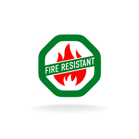 fire rescue: Fire resistant icon Illustration