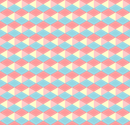 a pink cell: Hex 3d pastel soft colors seamless pattern Illustration