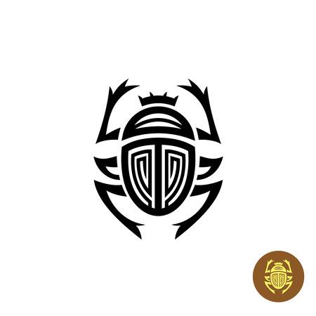 scarab: Scarab tattoo logo vector sign