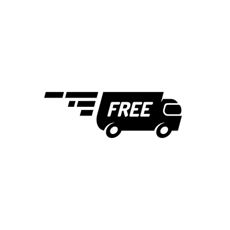 bulk carrier: Fast free delivery truck logo