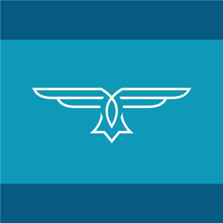 adler silhouette: Adler Vektorlinie Illustration