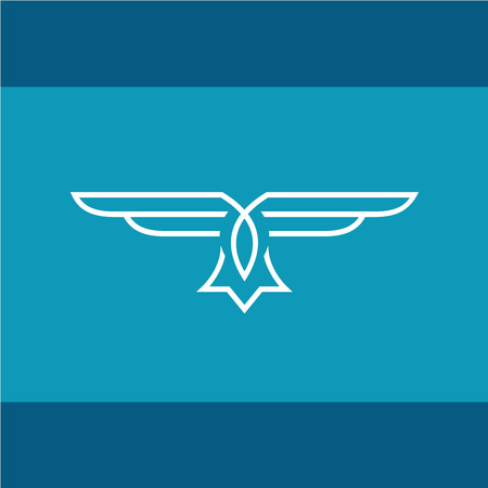 eagle badge: Eagle vector line  Illustration