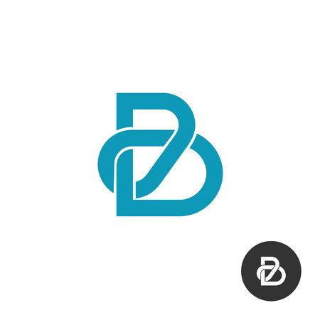 bucle: Icono B línea de estilo de rompecabezas de la carta Vectores