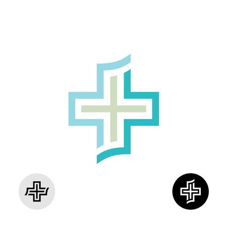the church: Médico o religión cruz icono de símbolo. Vectores