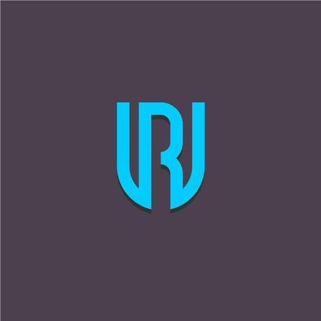 ligature: Letters U and R ligature monogram initials simple icon Illustration