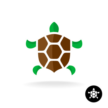 Turtle icon with shield shaped shell