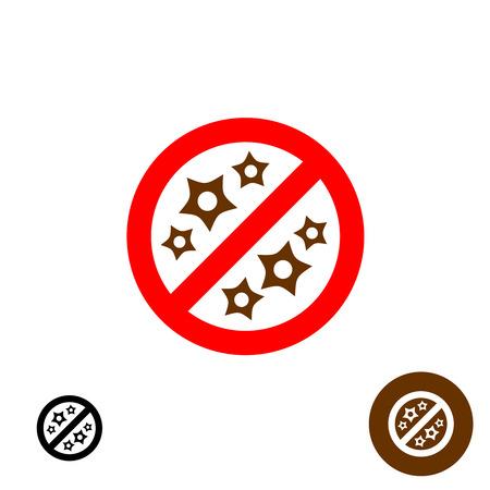 non: Non allergic sign icon. Stop allergy symbol. Illustration