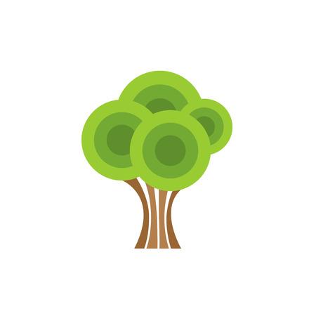 forme: Chêne arbre abstrait couleur des formes géométriques de style