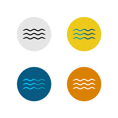 simple: Three lines simple water sea waves icon