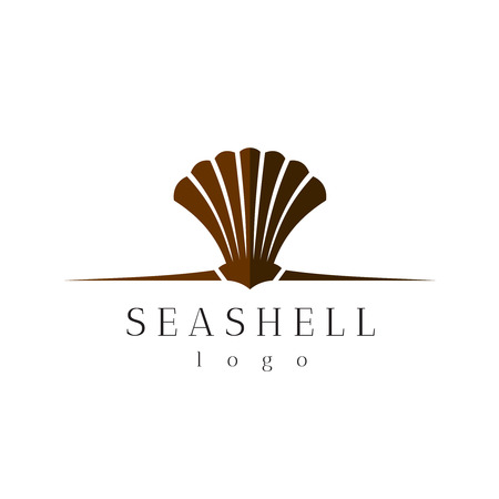 animal logo: Sea shell title logo with text Illustration