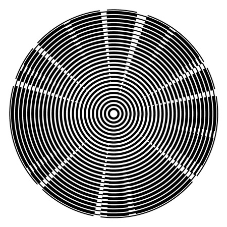 centered: Radial black centered circles tech background