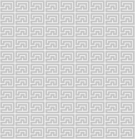 Geometric spirals gray seamless pattern background