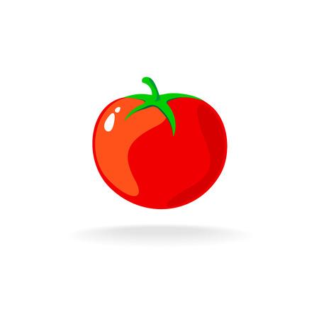 토마토는 하나의 간단한 만화 그림 격리 일러스트