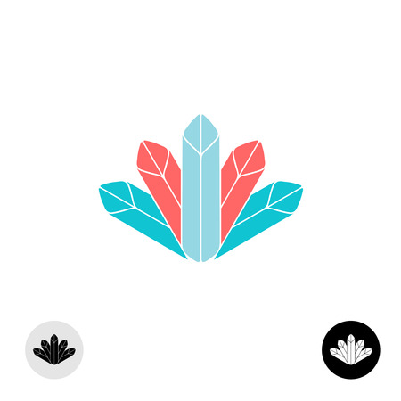 crown tail: Diamonds or color pastel oil crayons icon template