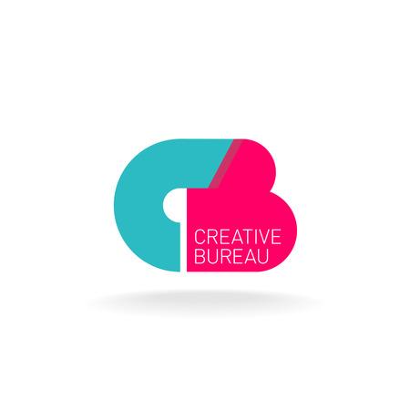 Cartas C y B ligadura icono de plantilla. Concepto de diseño creativo.