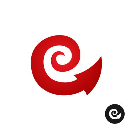 flexible business: Spiral tribal element symbol with arrow head tail