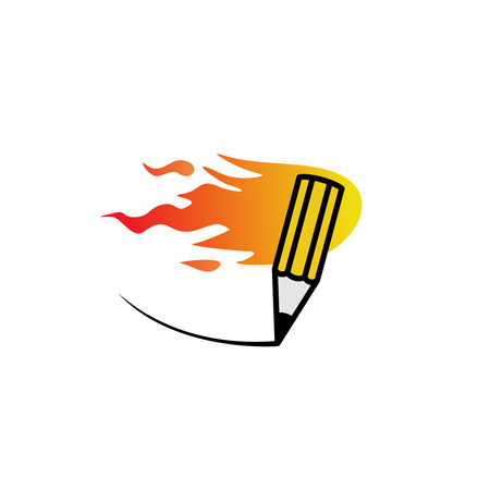 rapid fire: Fast fire pencil logo