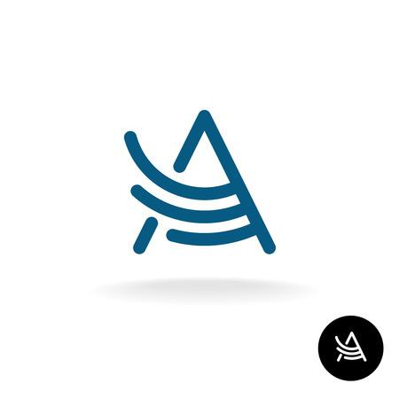 logo element: Letter A linear wing logo