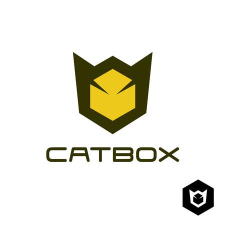 Geometric cat head logo idea Illustration