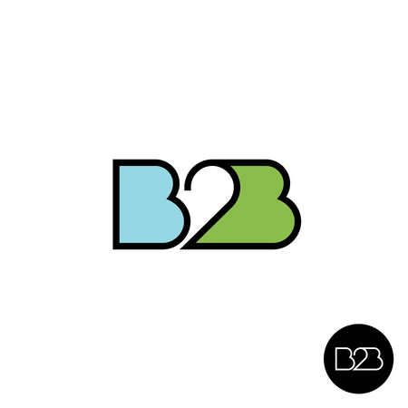 letter of the alphabet: B2B letters logo. Linear style.