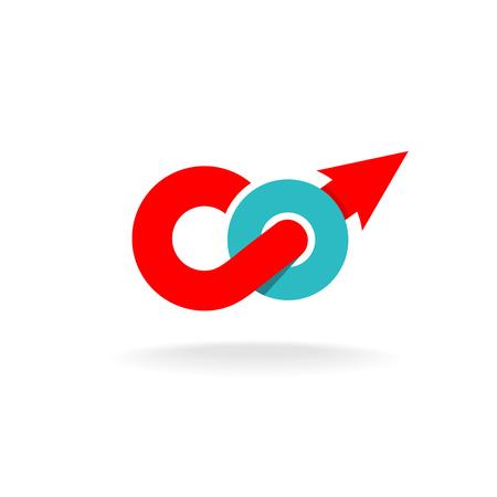 logo: từ Go biểu tượng động lực monogram