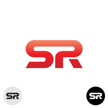 R: Two letters S and R ligature logo. Dynamic, sport, science modern style.