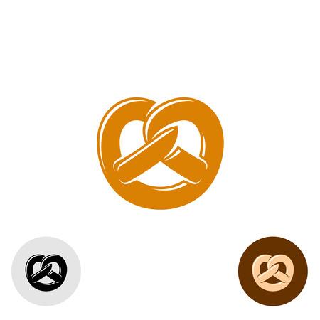 pretzels: Pretzel bakery logo Illustration