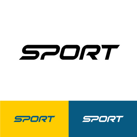 sport fitness: Sport word text logo