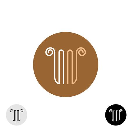 lira: Linear style column or lira logo Illustration