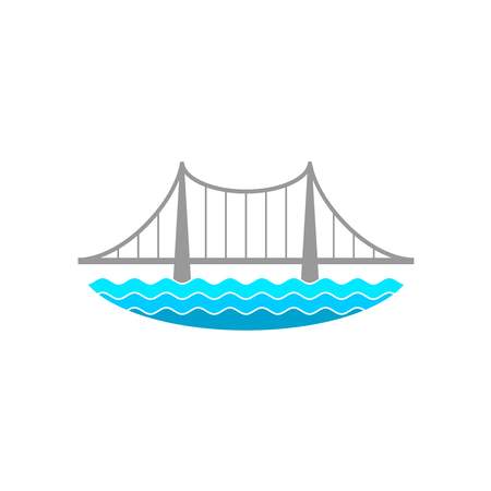 川に架かる橋します。